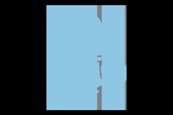 Icon of person kneeling looking sad