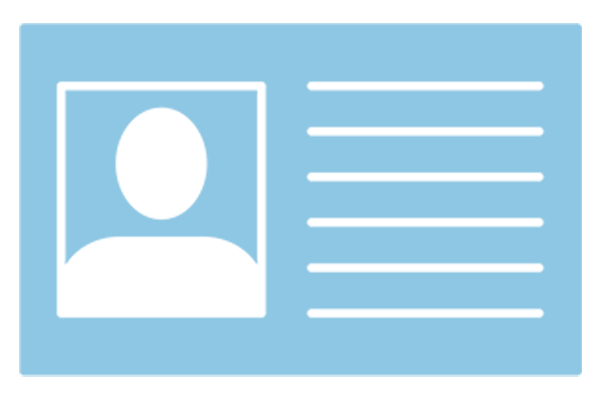 Icon of ID card