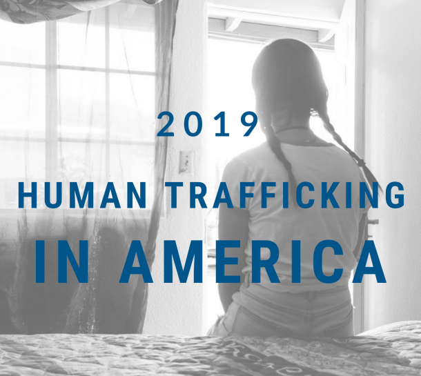 Front cover of human trafficking report